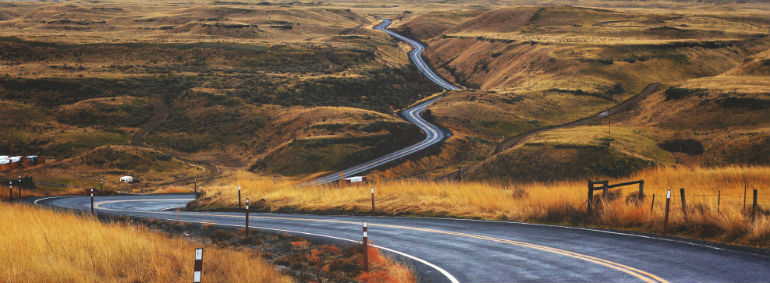 choosing the right path - country road