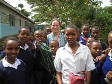 Rachel Bell in Tanzania