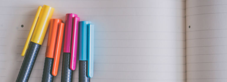 5 ways to start thinking about careers - notebook and pens