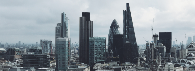 Working in investment banking - City of London skyline